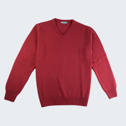 Best Yarn Burgundy V-neck Sweater