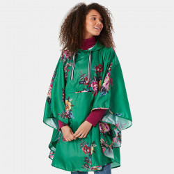 Tom Joule Milport Green Floral Poncho