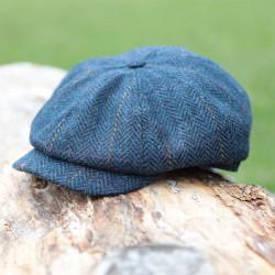 Casquette Irlandaise 8 Pans Bleue Mucros Weavers
