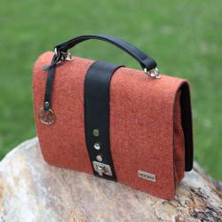 Mucros Weavers Orange Tweed Handbag