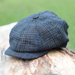 Mucros Weavers 8 Panels Grey and Blue Irish Cap