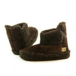 Chaussons Boots Chocolat Alwero