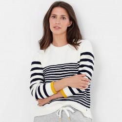 Tom Joule Seaport Ecru Stipped Sweater