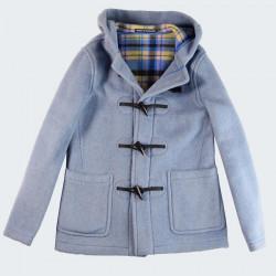 Duffle-Coat Court Melissa Bleu Glacier London Tradition