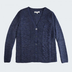 Out of Ireland Denim Blue Buttoned Cardigan