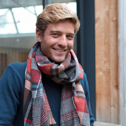 Out Of Ireland Dark Red Check Scarf