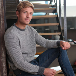 Out Of Ireland Grey Vanisé Sweater Round Neck