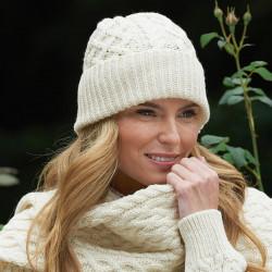 Inis Crafts Natural Ecru Beanie Hat