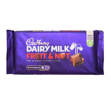Tablette Cadbury aux Raisins et Noisettes 200g