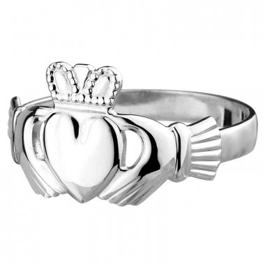 Silver Men Claddagh Ring