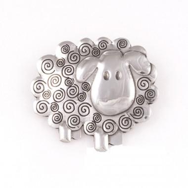 Sheep Tin Brooch