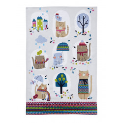 Cozy Cats Essuie-mains Coton 48 x 74 cm