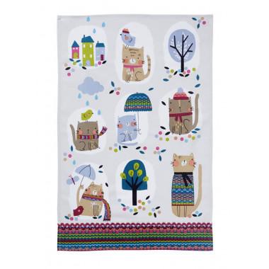 Cozy Cats Essuie-mains Coton 48 x 74 cm