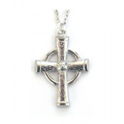 Celtic Ring Pewter Cross