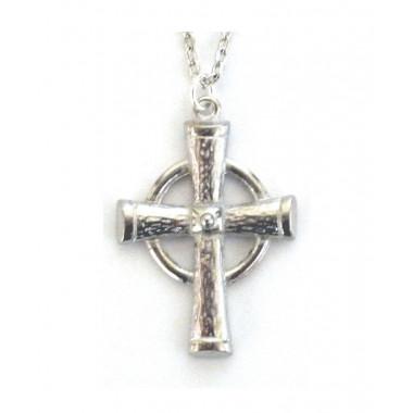 Celtic Ring Pewter Cross