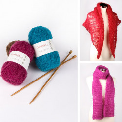 Cushendale Scarf or Shawl Knitting Pack
