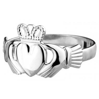 Women Claddagh Silver Ring