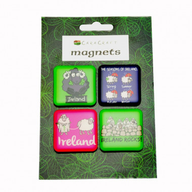 Set 4 magnets moutons