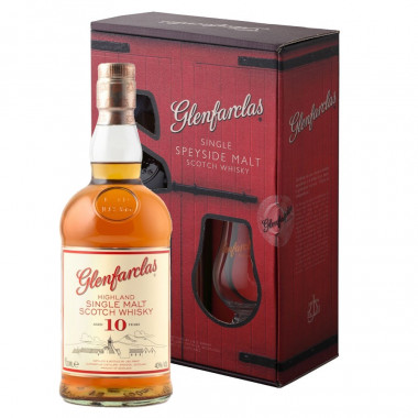 Glenfarclas 10 Years Old Gift Pack 70 cl 40° + 1 glass