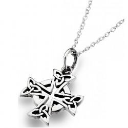 Celtic Cross Silver Pendant