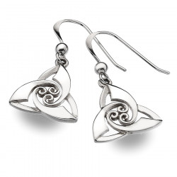 Trinity Knot Silver Earrings