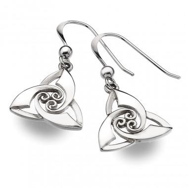 Boucles d'oreilles Argent Trinity Knot