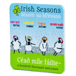 Coaster Sheep Irish Seasons