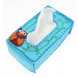 Kusan Owl Tissue Box Cover
