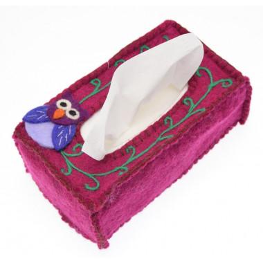 Protège Boîte à Mouchoirs Hibou Kusan