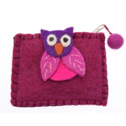 Kusan Owl with Brooch Pocket Purse