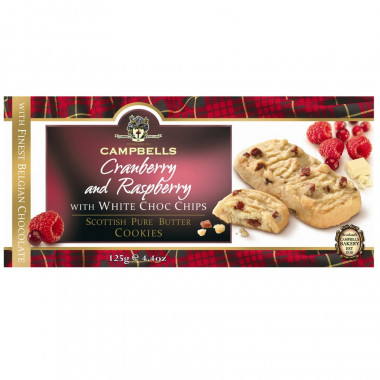 Cookies Canneberge et Framboise Campbells 125g
