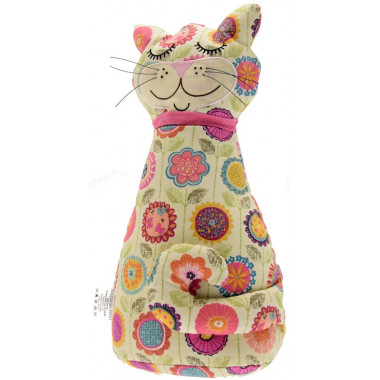 Flower Cat Doorstop 33 x 22 cm
