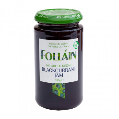 No Added Sugar Blackcurrant Preserve Folláin 300g