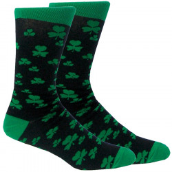 Black Socks with Green Shamrocks