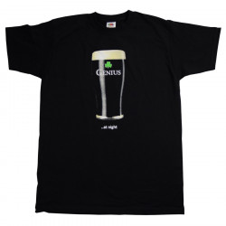 Genius At Night Black T-shirt