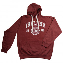 Distressed Bordeaux Ireland Hooded Jumper