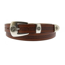 Lee River Brown Celtic Belt