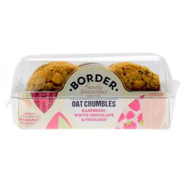 Border Biscuits Raspberry, White Chocolate & Pistachio 175g