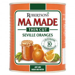 Can of orange thin cut for a homemade marmaladee
