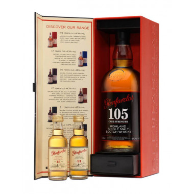 Coffret Glenfarclas 105 Cask Strength 70cl 60° + 2x5cl