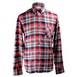 Out of Ireland Black-Navy Flannel Button-Down Shirt