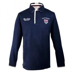 Black Wellis Heritage Navy Polo Shirt