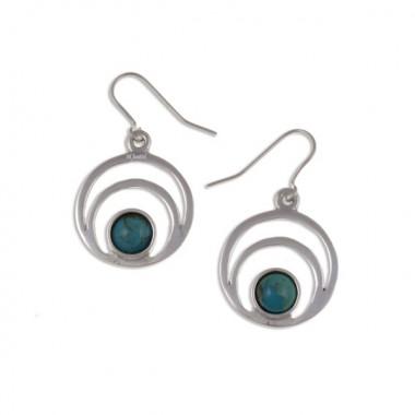 Tin Turquoise Earrings