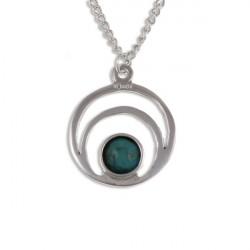 Tin Pendant Turquoise