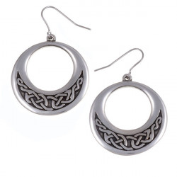 Celtic Knot Creole Tin Earrings