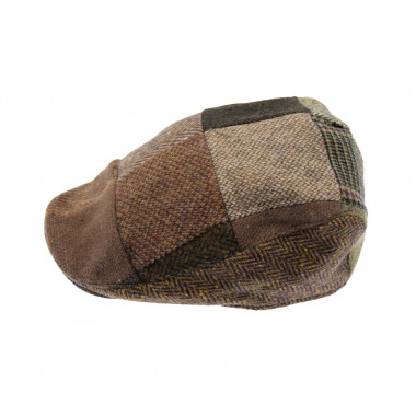 Hanna Hats Brown Donegal Patchwork Hat