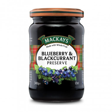 Blueberry & Blackcurrant Preserve Mackays 340g