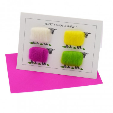 Just Four Ewes Postcard