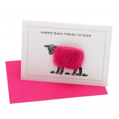 Happy Baa-thday to Ewe Postcard