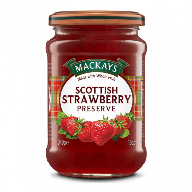 Strawberry Preserve Mackays 340g